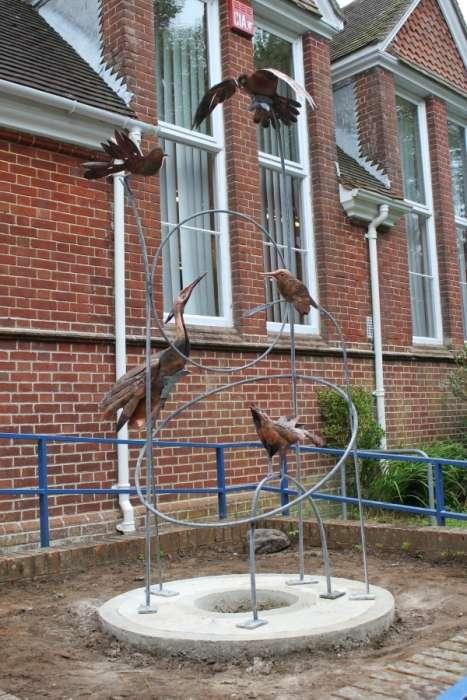 Sheet Primary School, Petersfield.  Flock of Birds. 2017