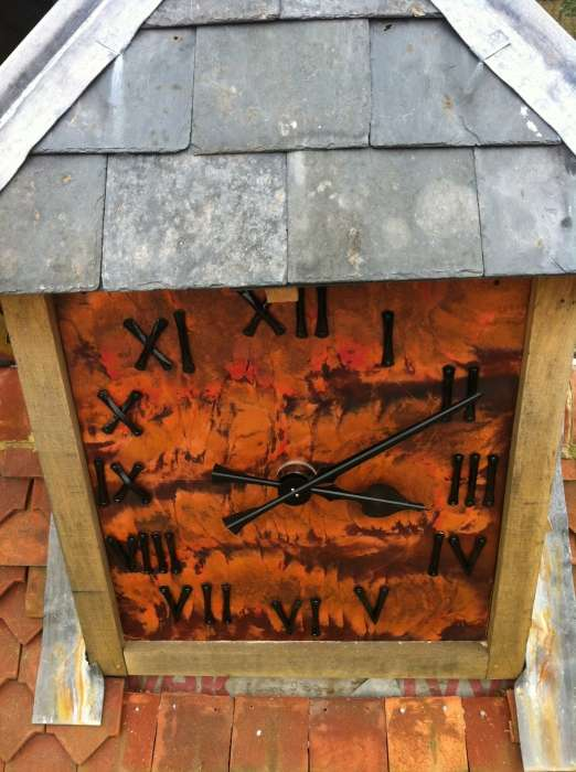 Clock face for the new barn at Bedales School, Hampshire